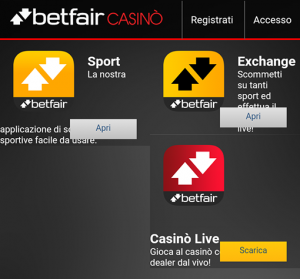 betfair casino app download